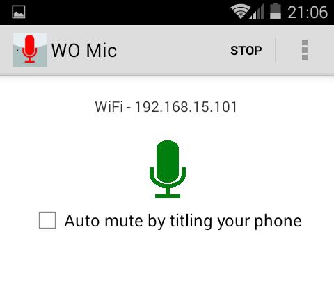 Wo Mic phần mềm biến Android thành micro không dây để hát